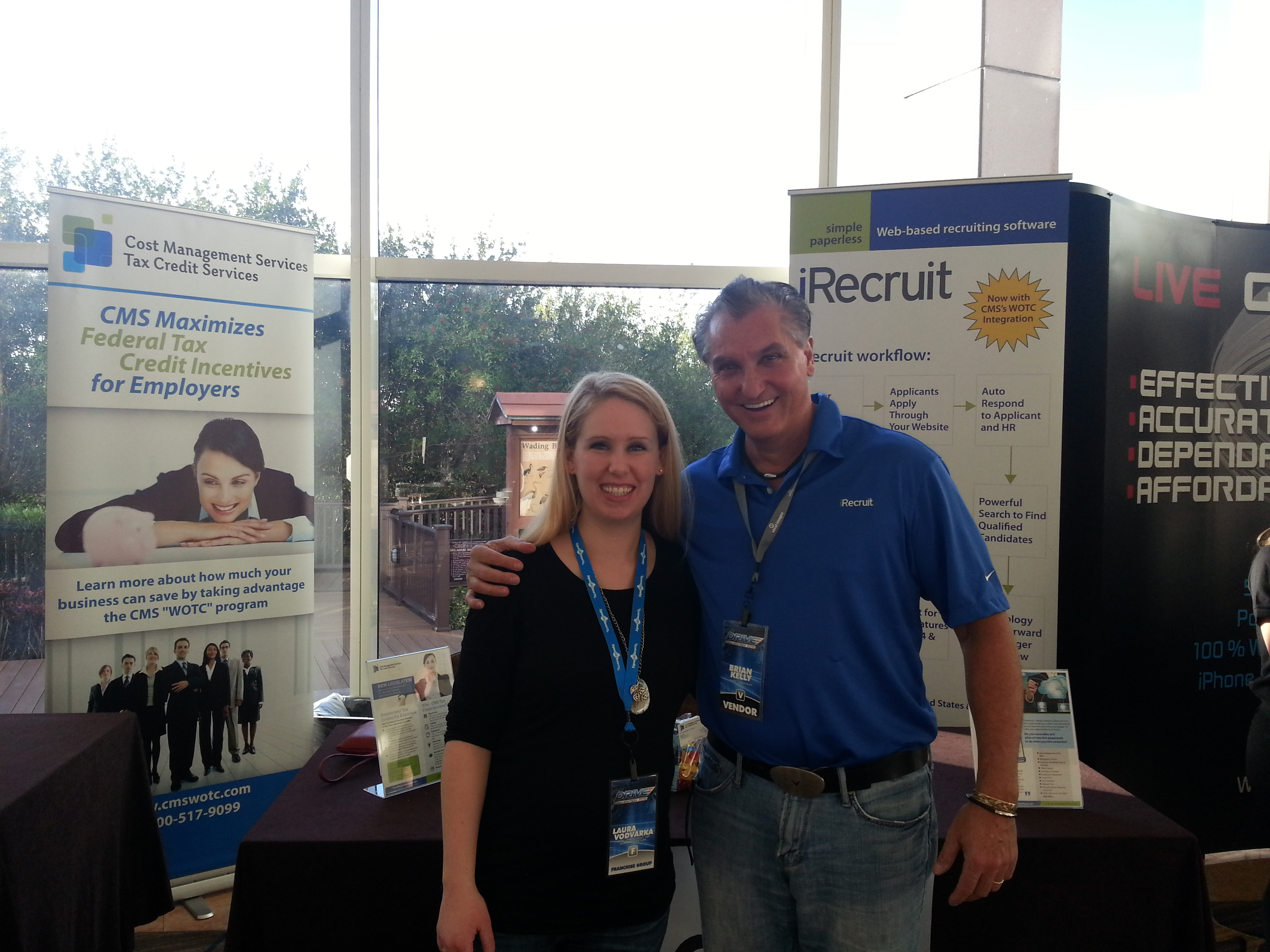 Brian Kelly of CMS, meets Laura Vodvarka, Vice President of Administration at Signal 88 Security