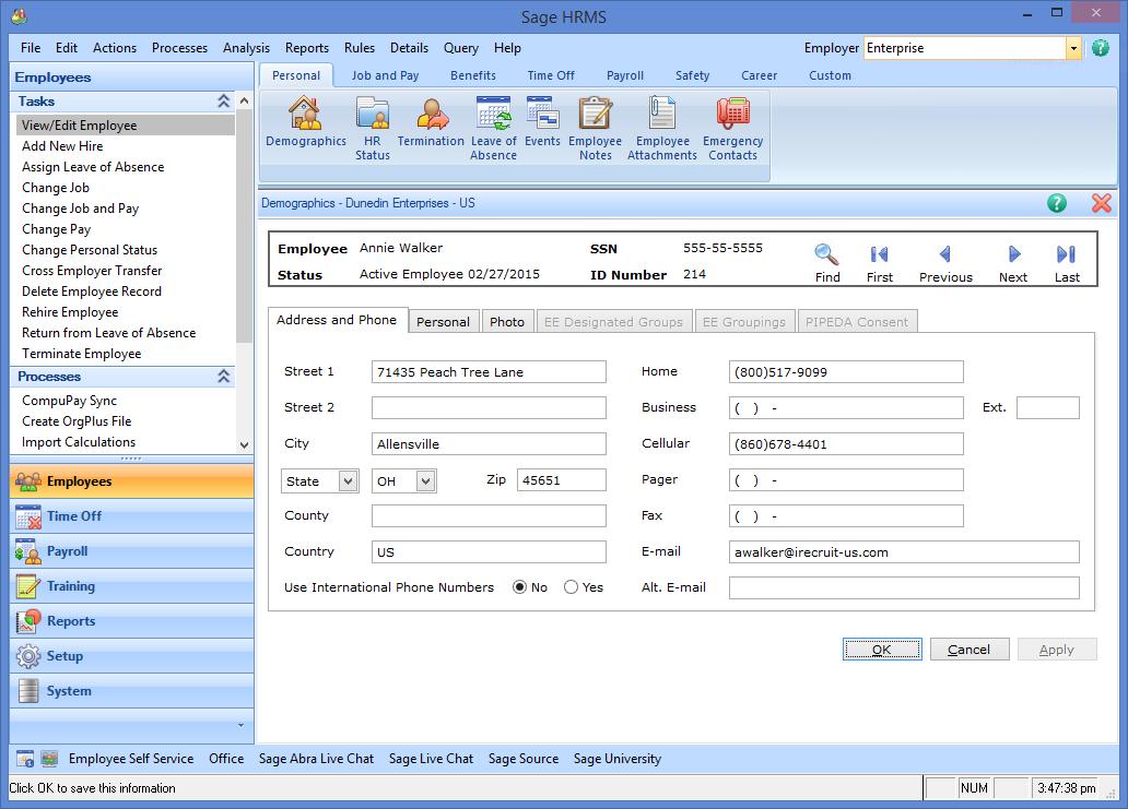 Sage HRMS Integration
