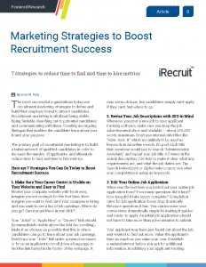 Marketing Strategies to Boost Recruitment Success
