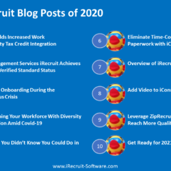 Top 10 iRecruit Blog Posts of 2020