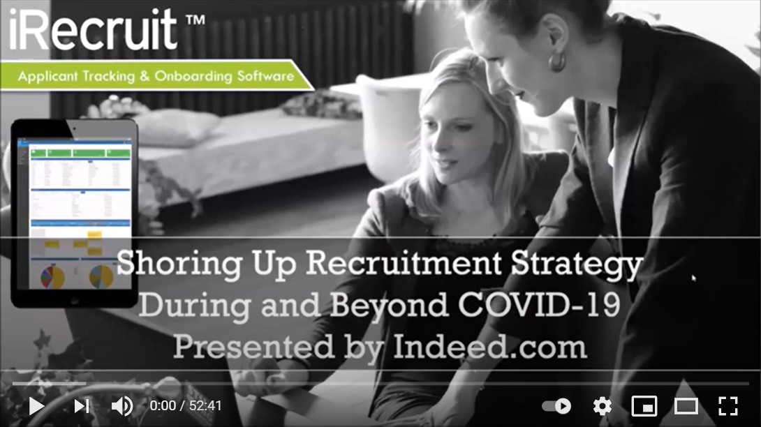 Webinar Recording: Shoring Up Recruitment Strategy During and Beyond COVID-19 Video Recording