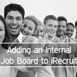 Adding an Internal Job Board to iRecruit