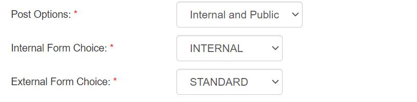 Internal Job Post Option