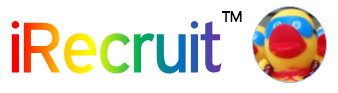 iRecruit Logo with Color for Pride Month