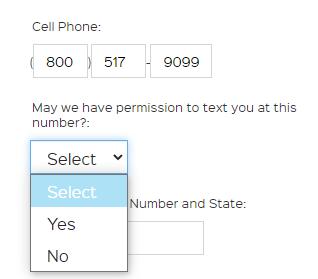 iRecruit Texting Permissions