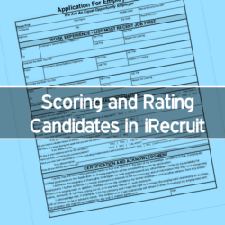 Scoring and Rating Candidates